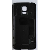 Пластиковый непрозрачный матовый встраиваемый чехол для Samsung Galaxy S5 (Duos) Черный