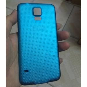 Пластиковый непрозрачный матовый встраиваемый чехол для Samsung Galaxy S5 (Duos) Синий