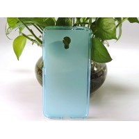 Силиконовый матовый полупрозрачный чехол для LG X Power Голубой