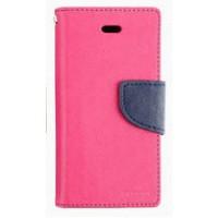 Чехол портмоне подставка на силиконовой основе на дизайнерской магнитной защелке для Samsung Galaxy J1 (2016) Пурпурный