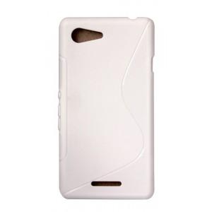 Силиконовый S чехол для Huawei Honor 7 Белый