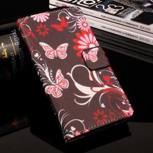 Чехол горизонтальная книжка подставка на силиконовой основе с отсеком для карт и полноповерхностным принтом на магнитной защелке для Asus ZenFone 3 Max