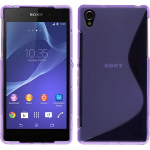 Силиконовый чехол S для Sony Xperia Z2 Фиолетовый