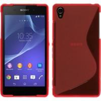 Силиконовый чехол S для Sony Xperia Z2 Красный