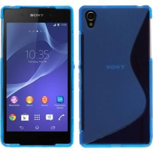 Силиконовый чехол S для Sony Xperia Z2 Голубой