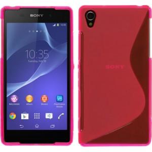 Силиконовый чехол S для Sony Xperia Z2 Розовый
