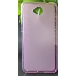 Силиконовый матовый полупрозрачный чехол для Microsoft Lumia 650 Розовый