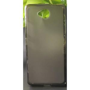 Силиконовый матовый полупрозрачный чехол для Microsoft Lumia 650 Черный