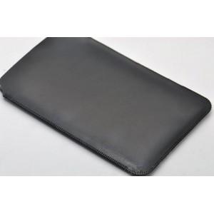Кожаный мешок для Samsung Galaxy A7 Черный