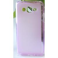 Силиконовый матовый полупрозрачный чехол для Samsung Galaxy J2 Prime Розовый