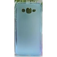 Силиконовый матовый полупрозрачный чехол для Samsung Galaxy J2 Prime Голубой