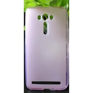Силиконовый матовый полупрозрачный чехол для ASUS Zenfone 2 Laser 5.5 ZE550KL Розовый