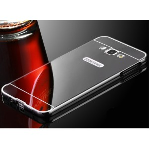 Гибридный металлический двухкомпонентный чехол с поликарбонатной крышкой с зеркальным покрытием для Samsung Galaxy A3