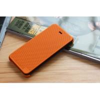 Точечный чехол смарт флип с функциями оповещения для HTC Desire 626/628 Оранжевый