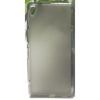 Силиконовый матовый полупрозрачный чехол для Sony Xperia XA Ultra Серый
