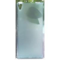 Силиконовый матовый полупрозрачный чехол для Sony Xperia XA Ultra Голубой