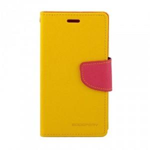 Чехол портмоне подставка на силиконовой основе на магнитной защелке для Sony Xperia XA Ultra Желтый
