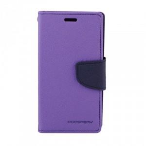 Чехол портмоне подставка на силиконовой основе на магнитной защелке для Sony Xperia XA Ultra Фиолетовый