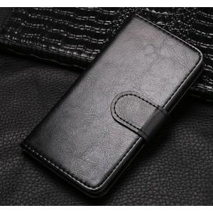 Чехол портмоне подставка на клеевой основе на магнитной защелке для Asus ZenFone 3 Max Черный