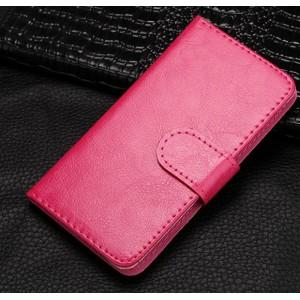 Чехол портмоне на клеевой основе с магнитной защелкой для BQ Strike Розовый