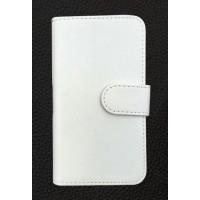 Чехол портмоне подставка на клеевой основе на магнитной защелке для BQ Strike Белый