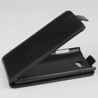 Чехол вертикальная книжка на пластиковой основе для Philips i928 Черный