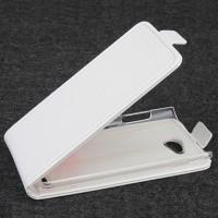 Чехол вертикальная книжка на пластиковой основе для Philips i928 Белый