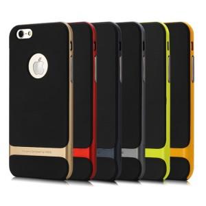 Силиконовый премиум чехол с поликарбонатным каркасным бампером для Iphone 6 Plus