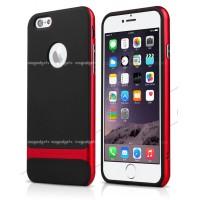 Силиконовый премиум чехол с поликарбонатным каркасным бампером для Iphone 6 Plus Красный
