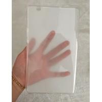 Силиконовый матовый полупрозрачный чехол для Huawei MediaPad M3 Белый