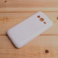 Силиконовый матовый чехол с нескользящей текстурой S для Samsung Galaxy J5 Белый
