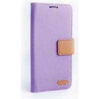 Текстурный чехол флип с дизайнерской застежкой для HTC Desire 626/628 Фиолетовый