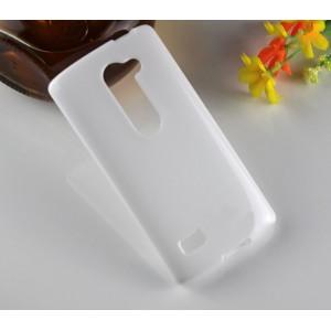 Силиконовый глянцевый полупрозрачный чехол для LG Leon Белый