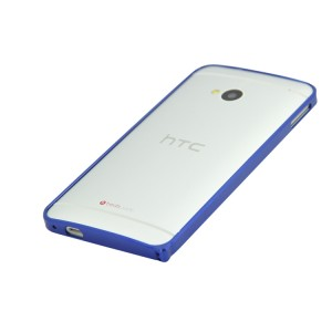 Металлический бампер для HTC One (M7) Dual SIM Синий