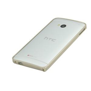 Металлический бампер для HTC One (M7) Dual SIM Бежевый