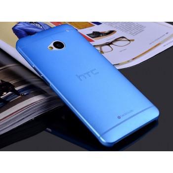 Пластиковый матовый полупрозрачный чехол для HTC One (М7) One SIM (Для модели с одной сим-картой)