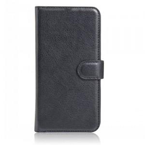 Чехол портмоне подставка на магнитной защелке для HTC One (M7) Dual SIM Черный