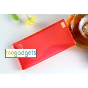 Силиконовый S чехол для Blackberry Leap Красный