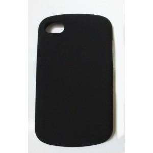 Силиконовый матовый непрозрачный чехол для BlackBerry Q10 Черный