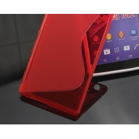 Силиконовый чехол S для HTC One 2 Красный