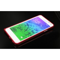Металлический бампер для Samsung Galaxy Alpha Красный