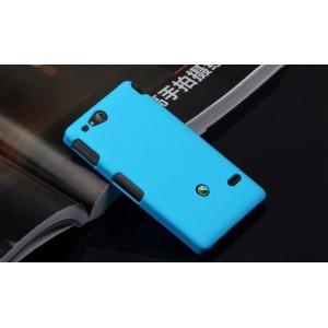 Чехол пластиковый для Sony Xperia go Голубой