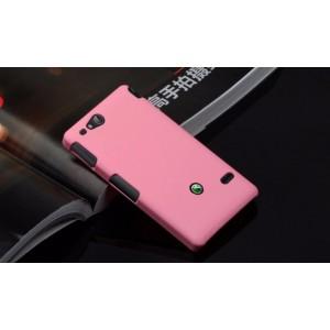 Чехол пластиковый для Sony Xperia go Розовый