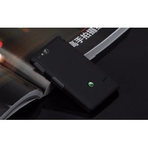 Чехол пластиковый для Sony Xperia go Черный
