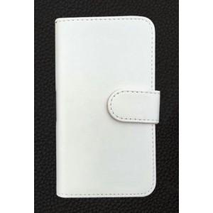 Чехол портмоне подставка на клеевой основе на магнитной защелке для Homtom HT10 Белый