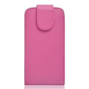Чехол вертикальная книжка на клеевой основе на магнитной защелке для Micromax Bolt D303 Розовый