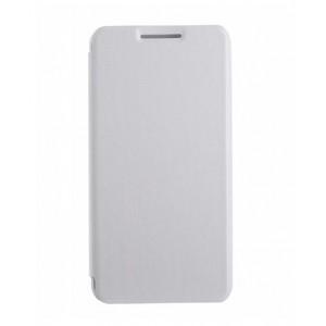 Винтажный чехол горизонтальная книжка подставка на пластиковой основе для Highscreen Power Ice Белый