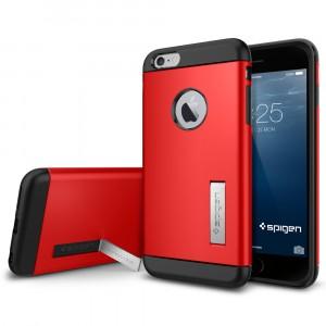 Силиконовый премиум чехол с поликарбонатной крышкой и функцией подставки для Iphone 6 Plus
