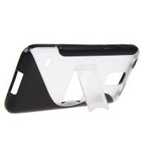Силиконовый чехол S подставка для Samsung Galaxy S5 Черный