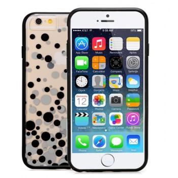 Силиконовый чехол с принтованной транспарентной накладкой для Iphone 6